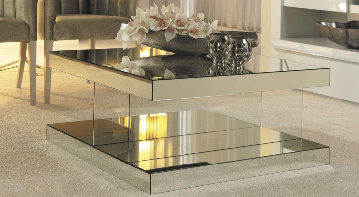 Mirrored cocktail tables