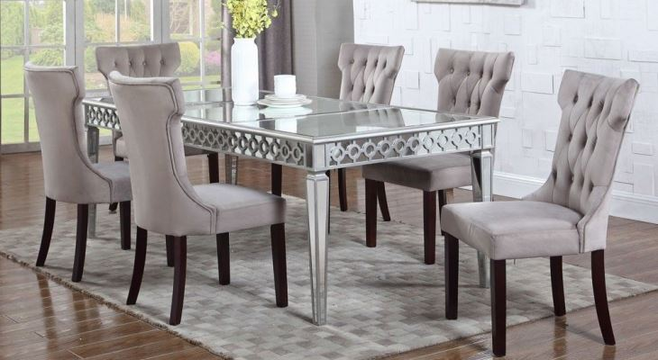 Mirrored dining room table