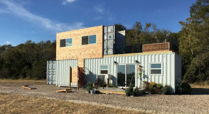 Modern farmhouse container home