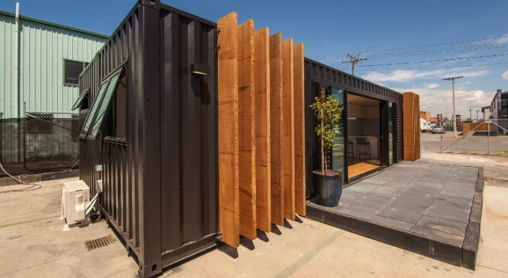Modern home project shipping container