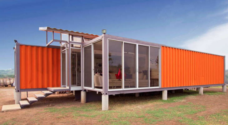 Modern shipping container home plans