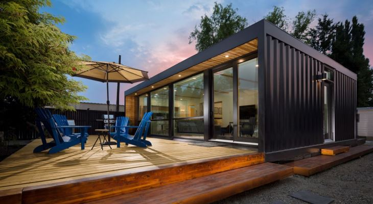 Modern shipping container home