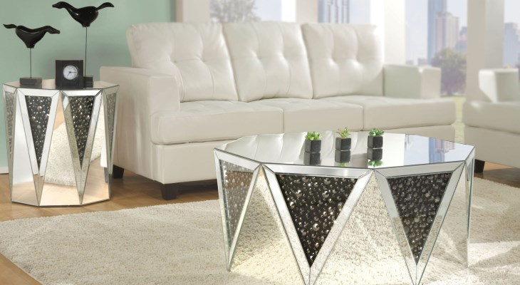 Noor mirrored cocktail table