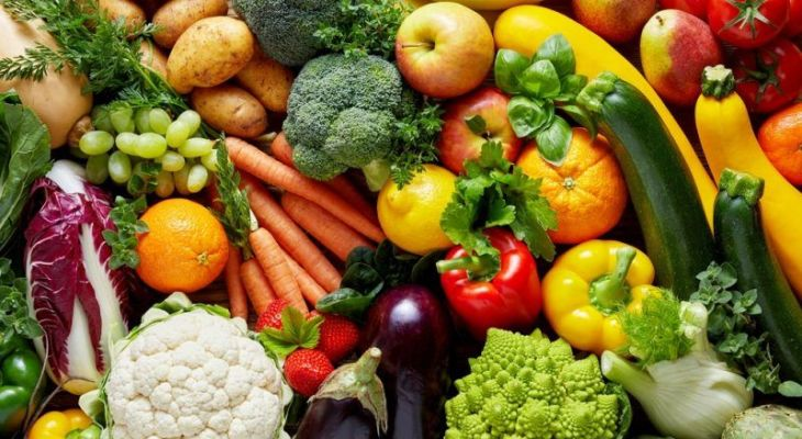 Only fruit and vegetables on diet