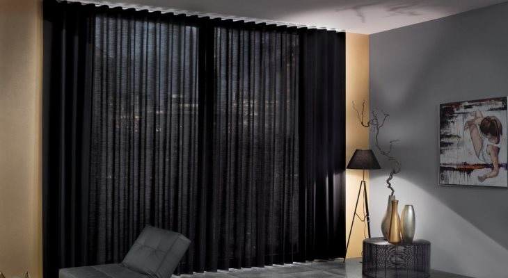 Sheer curtains black