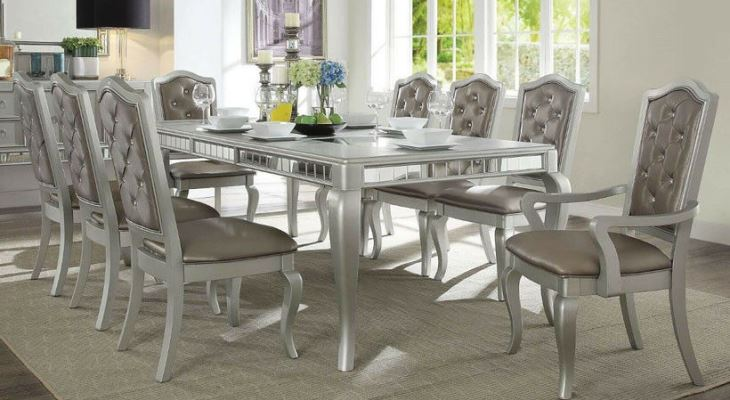 Z gallerie mirrored dining table