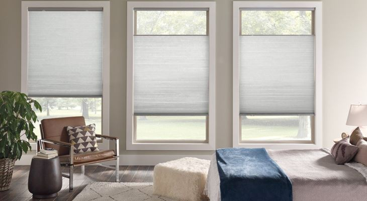 Cordless cellular shades light filtering