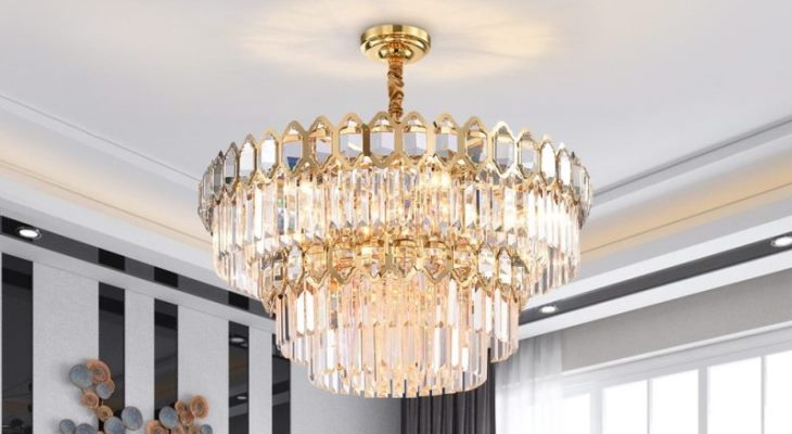 Crystal chandelier for lighting