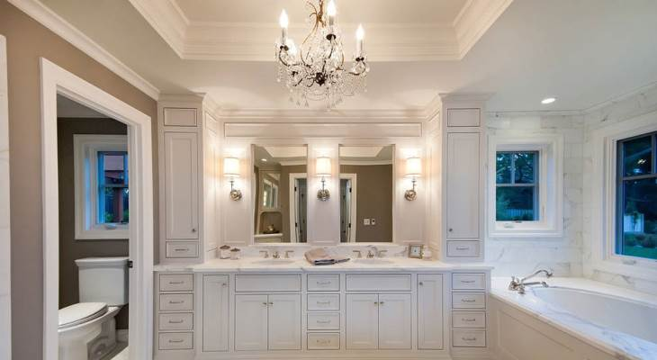 Vanity lighting ideas chandelier